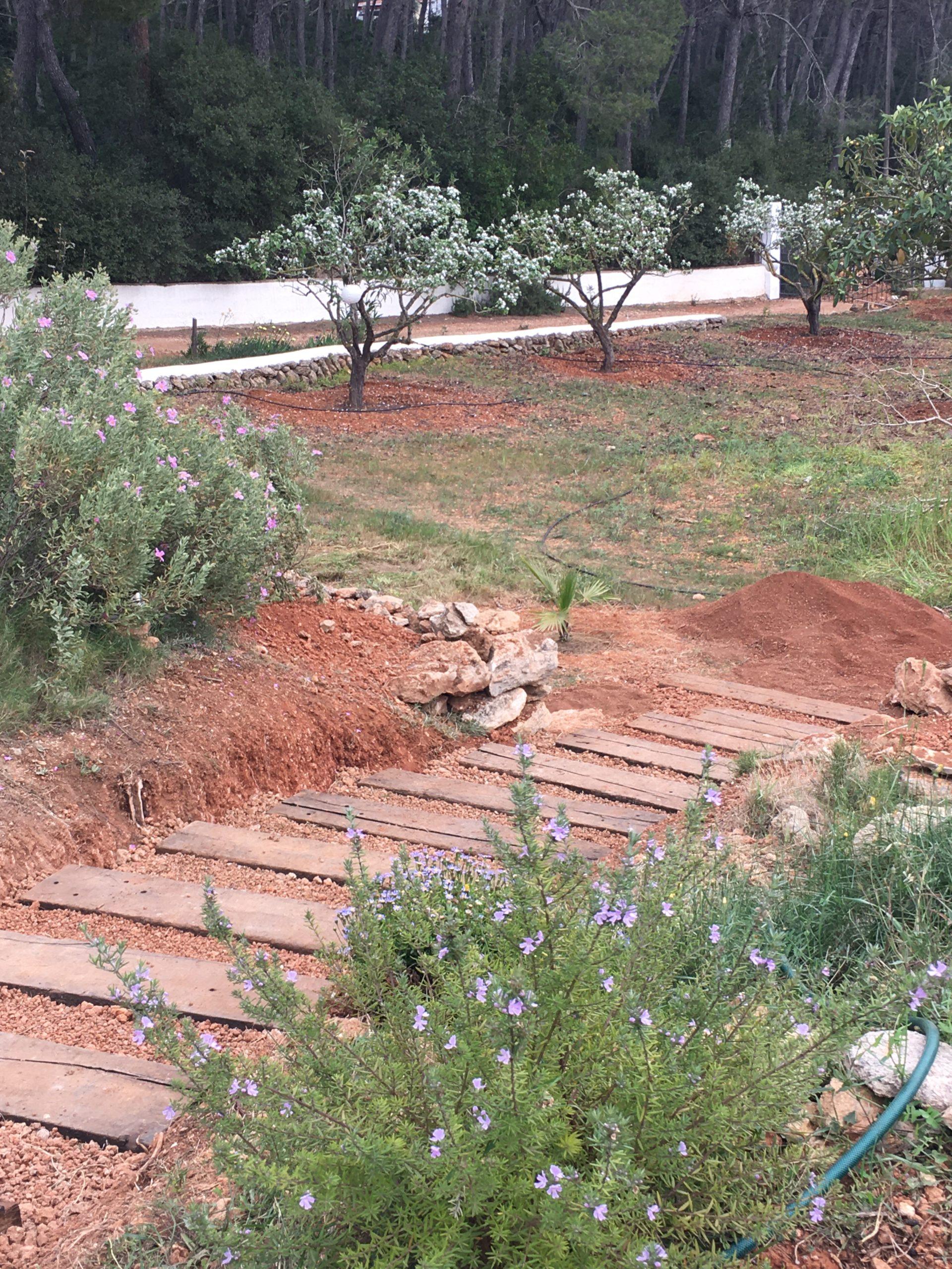 Création d'un escalier extérieur à Ibiza