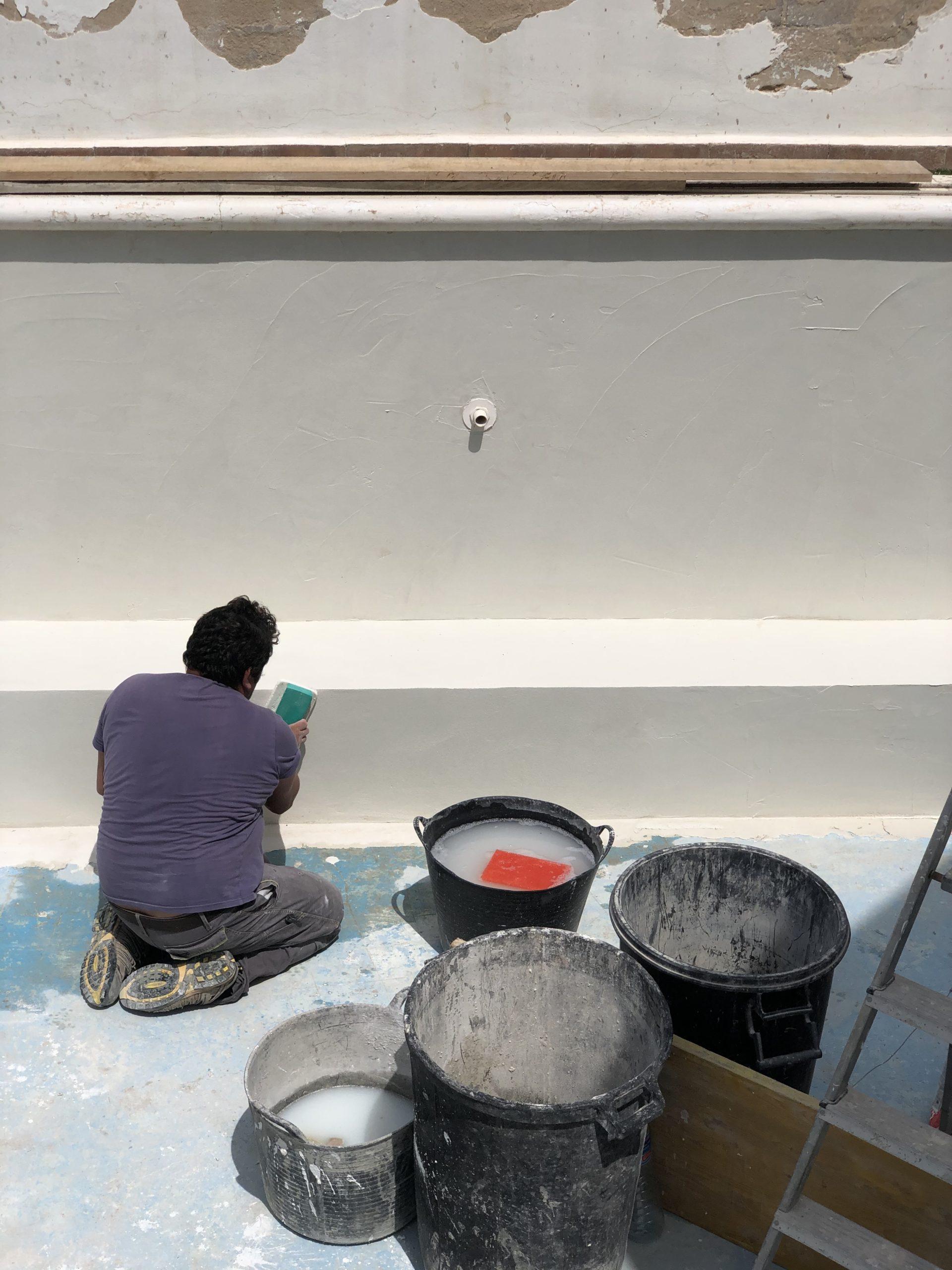 Rénovation d'une piscine à Ibiza